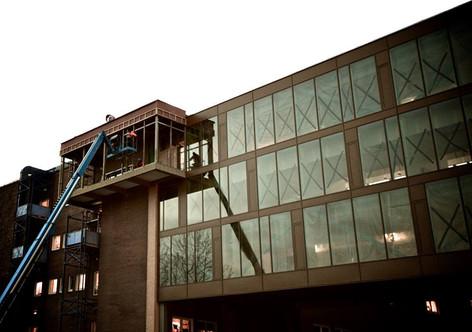 Innglassing av balkong på UNN