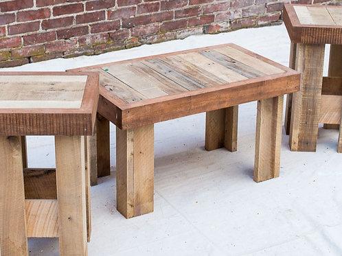 Reclaimed Wood 3 Table Set