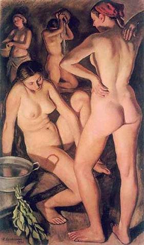 « Русская баня» Серебрякова З.Е., 1926 г.