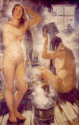 «В бане» В. Тихов, 1910