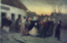 «Накануне девичника. Проводы невесты из бани», 1870