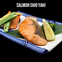 Salmon Shio Yaki แซลม่อนย่างเกลือ
