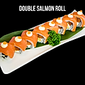 Double Salmon Roll (ダブルサーモンロール) ดับเบิ้ลแซลม่อนโรล