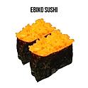 Ebiko Gunkan-Sushi (エビッコ軍艦) ไข่กุ้งซูชิ