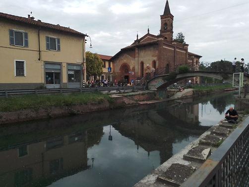 La chiesa di S.Cristoforo che si specchi
