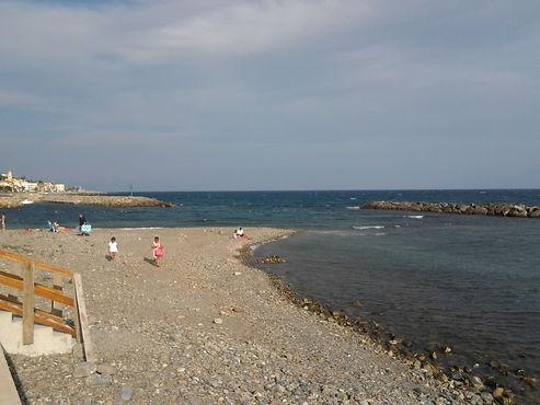 La spiaggia libera, tra Riva e S.Stefano