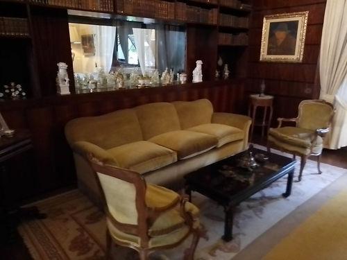 Villa Necchi, salotto con vetrata diviso