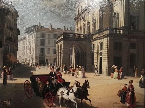 Pal.Morando, teatro della Scala nel 1800