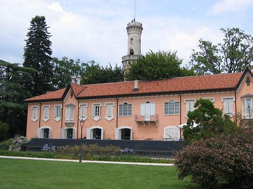 Giardino, pal. Estense,Belvedere, Varese