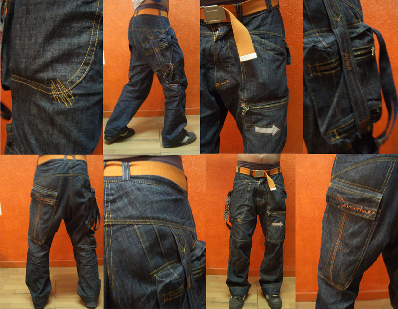 handcrafted jeans with frequencies