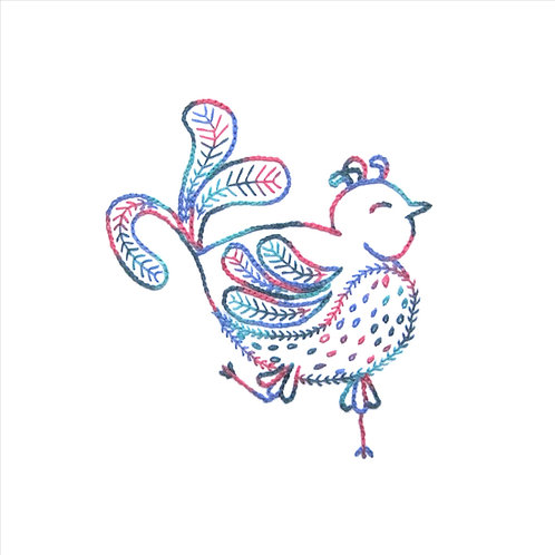 Flirty Fantine - Fly Stitch and Chain Stitch