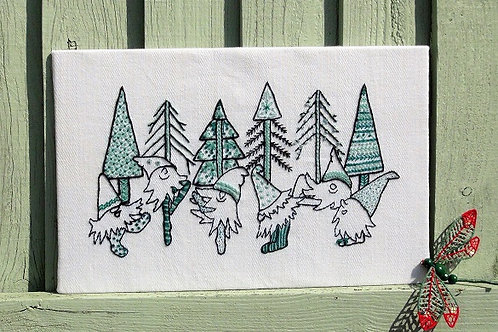 Gnome Fest Embroidery project