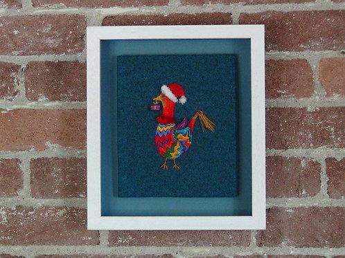 Finished Framed work - Goose Bearing Gift