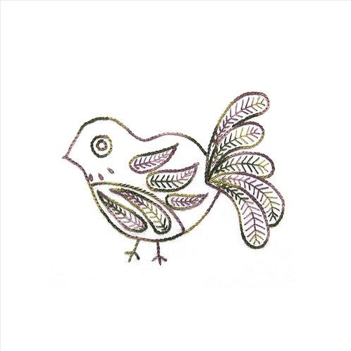 Edna - Fly Stitch and Chain Stitch