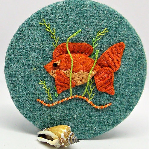 Stumpwork Goldfish