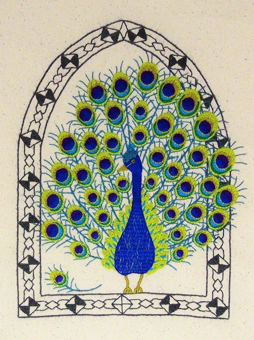Freestyle Embroidery kit - The Peacock