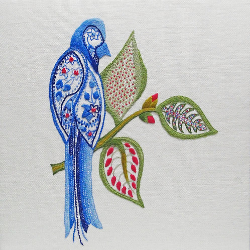 Crewelwork Embroidery Kit  Bird