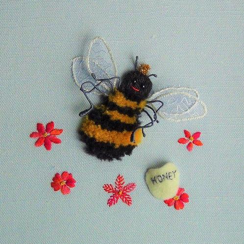 Queen Bee Stumpwork embroidery kit