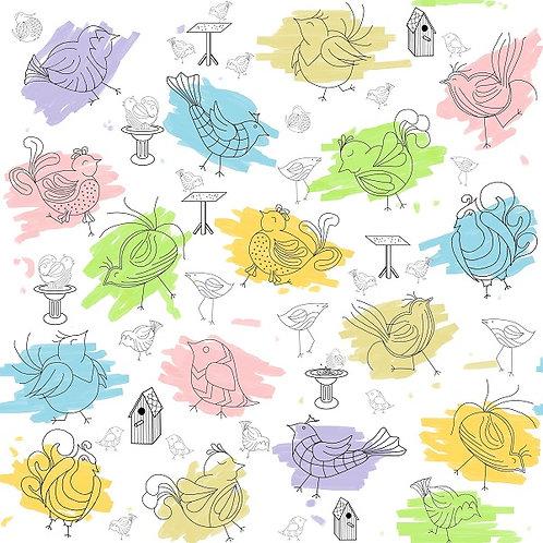 Dizzy & Creative Fabric - Birdbath
