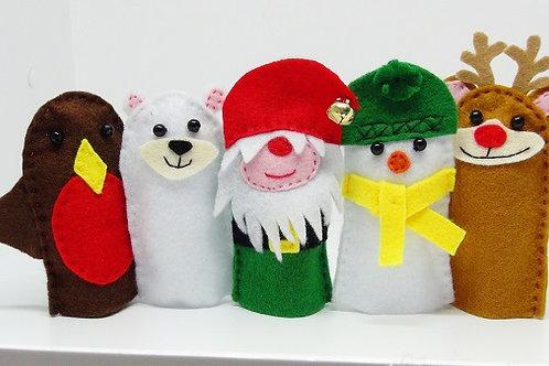 Winter Friends Finger Puppets