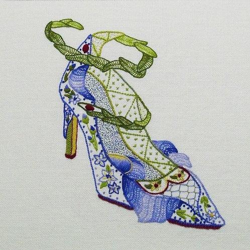 Iris Shoe Crewelwork Embroidery Kit