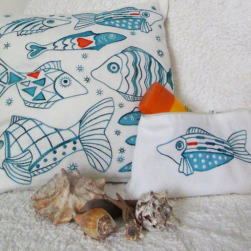 Fish Cushion Cover and Bag Offer