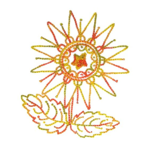 Sunflower - Chain Stitch and French Knots