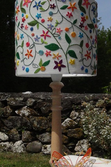 Embroidered Lampshade Kit