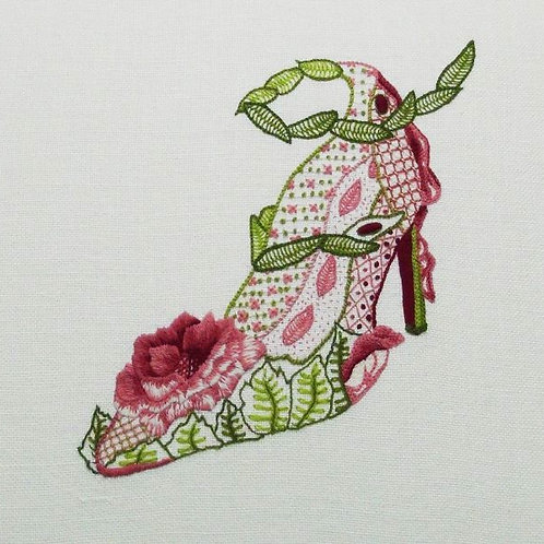Rose Shoe Crewelwork Embroidery Kit