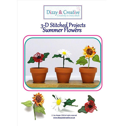 Summer Flowers 3D Project Book