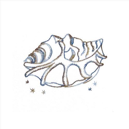 Rocking Shell - Buttonhole Stitch and Pearl Stitch