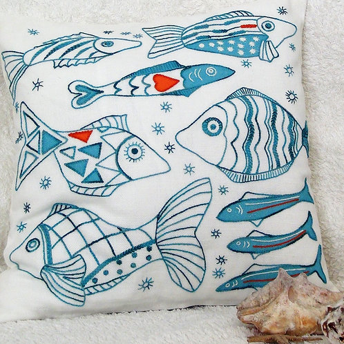 Fish Cushion Cover