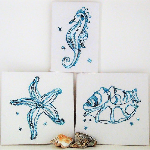 Sea Trilogy Embroidery kit