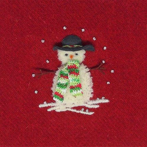 Stumpwork Snowman