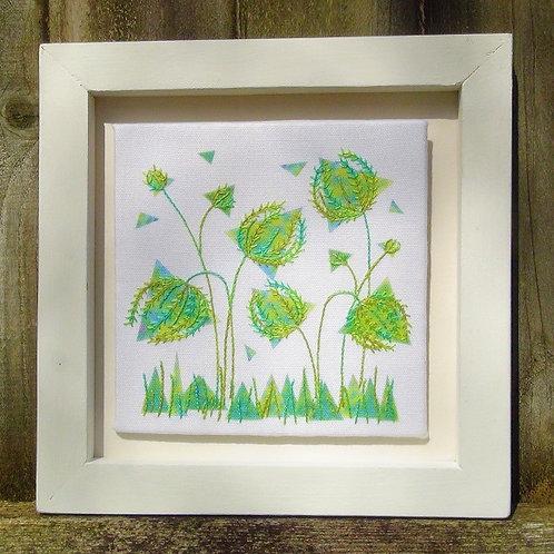 Green Garden - Wheatear and Stem Stitches