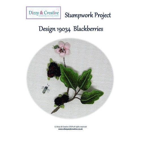 Stumpwork Blackberry Embroidery Project