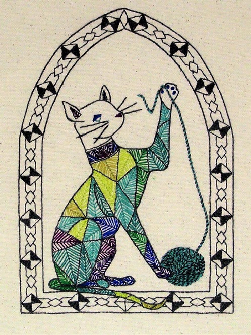 Freestyle Embroidery kit - The Cat