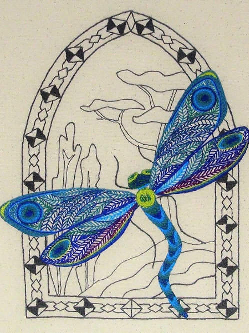 Freestyle Embroidery kit - The Dragonfly
