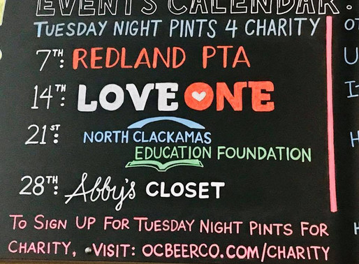 Oregon City Brewing Pints for Charity Night - January 14, 2020