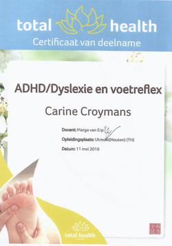 Getuigschrift - ADHD en Dyslexie en voetre