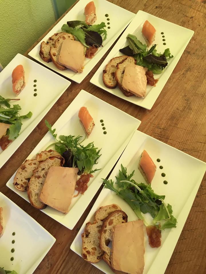 entrée_foie_gras_maison_canelonni_saumon