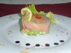 Arlequin de saumon frais et fumé