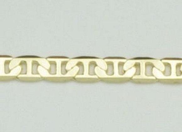 Pulseira formada por fio elo longo diamantado com pino no centro diamantado.