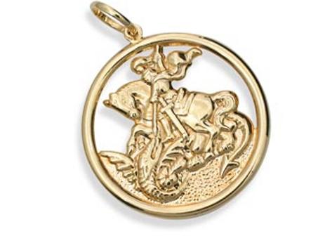 Pingente Medalha de São Jorge Rommanel