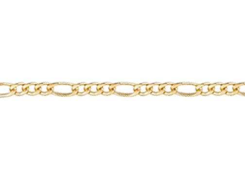 Pulseira formada por fio alternado 3x1 1,50 laminado.