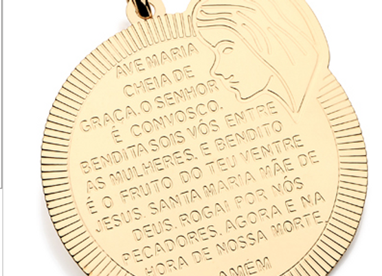 Pingente Medalha Ave Maria Rommanel