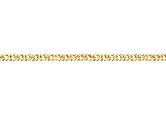 Pulseira formada por fio grumet dupla 0,80 laminado.