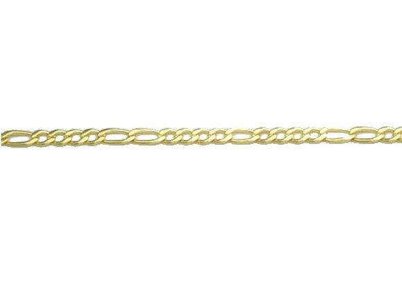 Pulseira formada por fio grumet alternado 4x2 1,20 laminado.