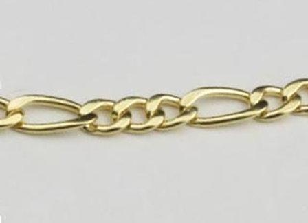 Pulseira formada por fio alternado 3x1 0,80 laminado.