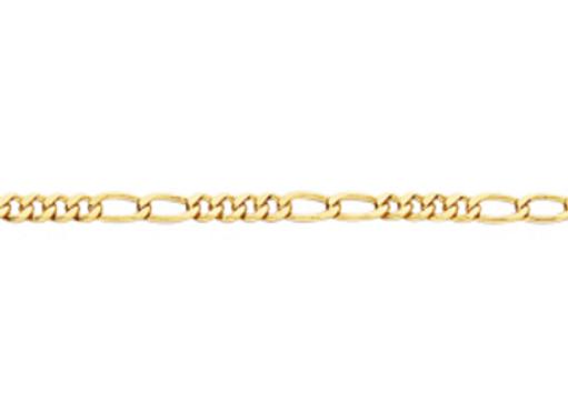 Pulseira formada por fio alternado 4x2 0,80 laminado.